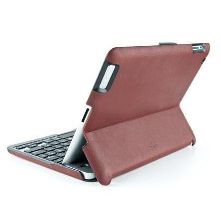 Puzdro/klávesnica ZAGG Bluetooth Folio pre Apple iPad 2/3/4, CZ/SK, Brown/Silver