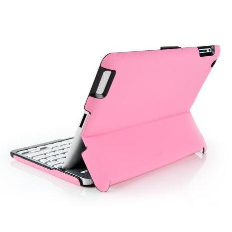 Puzdro/klávesnica ZAGG Bluetooth Folio pre Apple iPad 2/3/4, CZ/SK, Pink/Silver