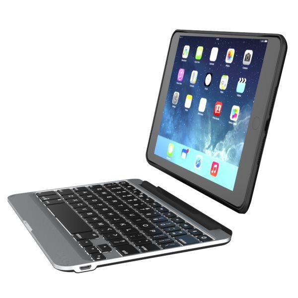 Puzdro/klávesnica ZAGG Bluetooth Slim Book Case pre Apple iPad Mini 4, CZ/SK, podsvietenie, Black