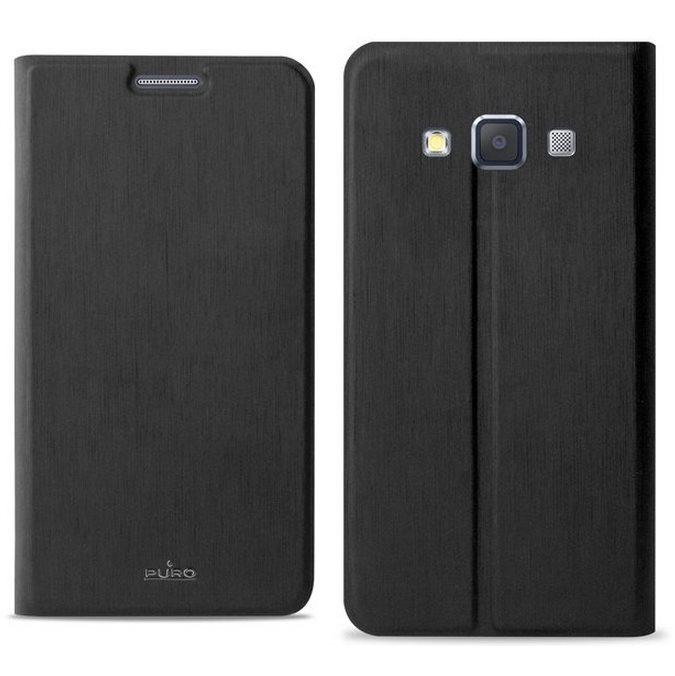 Puzdro knižkové Puro Wallet Case pre Samsung Galaxy A3 - A300F, Black