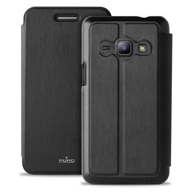 Puzdro knižkové Puro Wallet Case pre Samsung Galaxy J1 - J100, Black