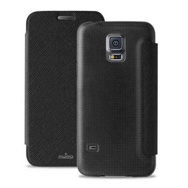 Puzdro knižkové Puro Wallet Case pre Samsung Galaxy S5 Mini - G800, Black