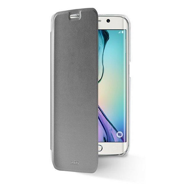 Puzdro knižkové Puro Wallet Case pre Samsung Galaxy S6 Edge - G925F, Silver