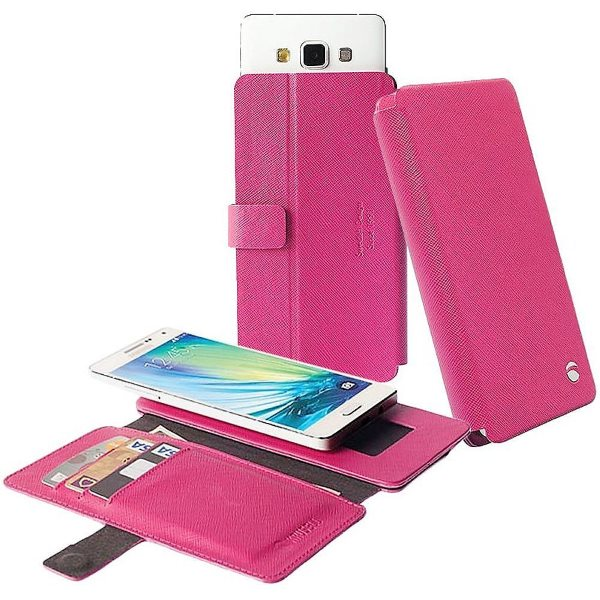 Puzdro Krusell Malmo FlipWallet Slide pre GoClever Quantum 550, Pink