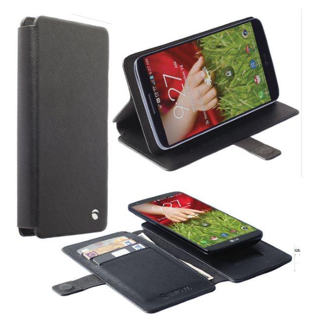 Puzdro Krusell Malmo FlipWallet Slide pre Lenovo A6000 Plus a A6010 Plus, Black