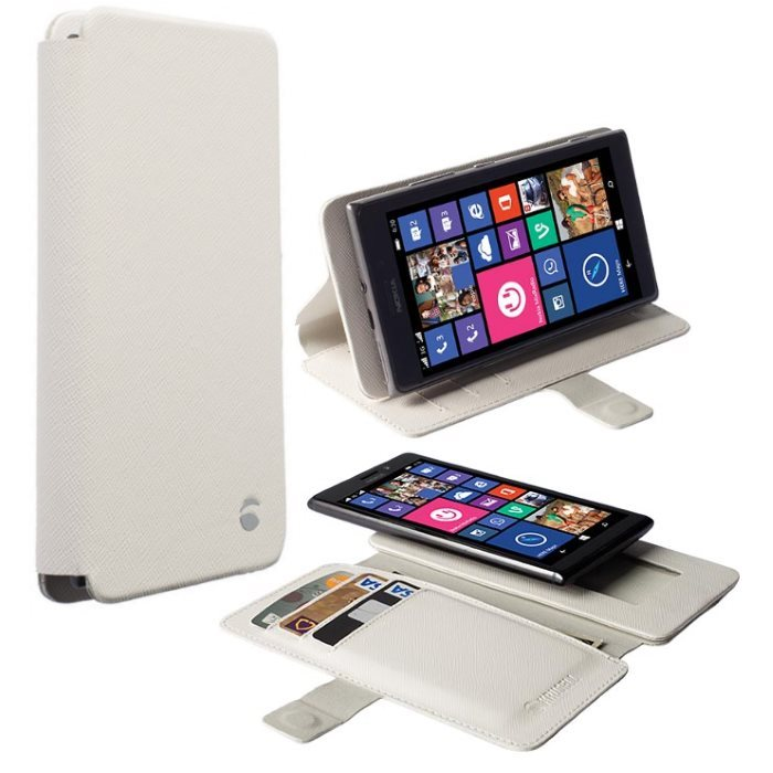 Puzdro Krusell Malmo FlipWallet Slide pre Lenovo A6000 Plus a A6010 Plus, White
