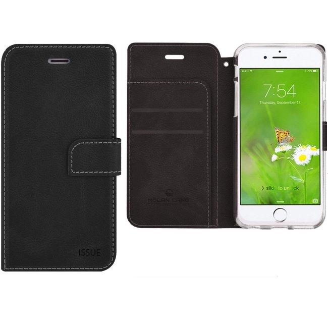 Puzdro Molan Cano Issue Book pre Apple iPhone 5, 5S a SE, Black 8596311002946