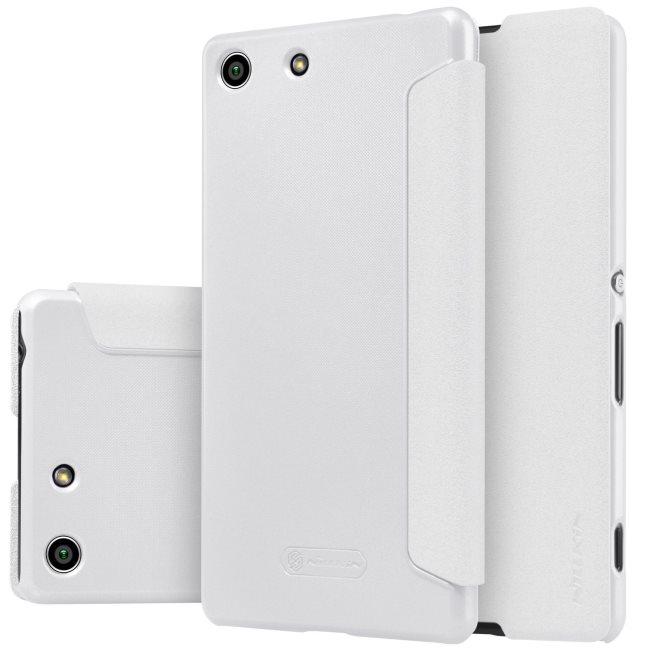 Puzdro Nillkin Sparkle pre Sony Xperia M5 a M5 Dual, White