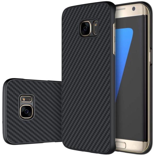 Puzdro Nillkin Synthetic Fiber pre Samsung Galaxy S7 Edge - G935F, Black Carbon