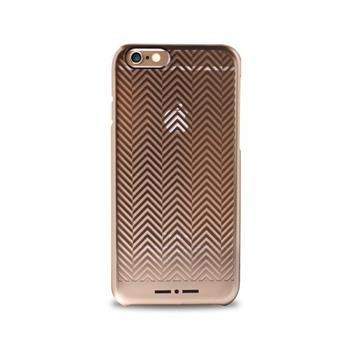 Puzdro Puro CHEVRON pre Apple iPhone 6 a 6S, Gold