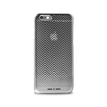 Puzdro Puro CHEVRON pre Apple iPhone 6 a 6S, Silver