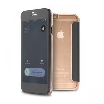 Puzdro Puro s aktívnym dotykovým flipom pre Apple iPhone 6 a 6S, Transparent