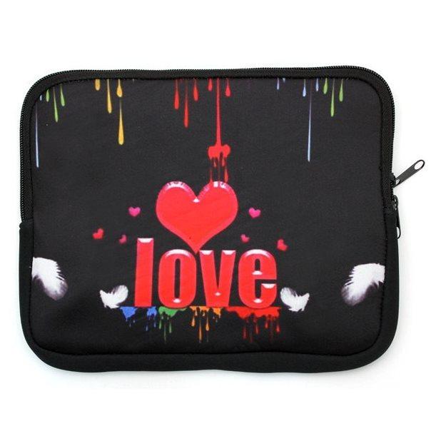 Puzdro QAC Neoprene pre PocketBook 640 Aqua, motív Love