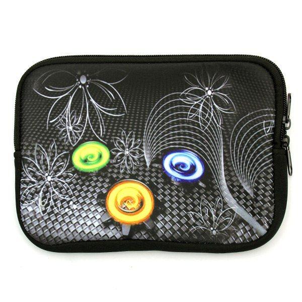 Puzdro QAC Neoprene pre Samsung Galaxy Tab 4 10.1 VE - T533, motív Flowers