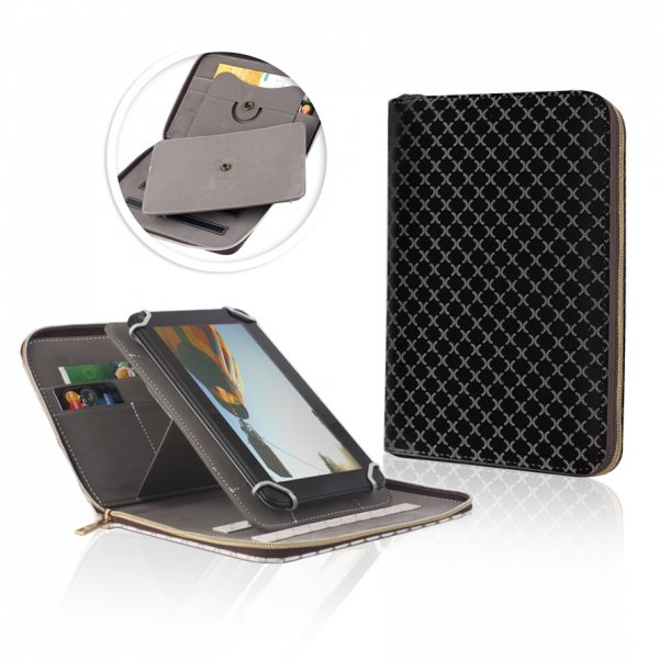 Puzdro QAC Trend pre Asus ZenPad 10.1 - Z300C, Black/Grey
