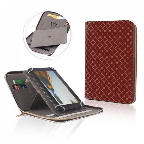 Puzdro QAC Trend pre Samsung Galaxy Tab S2 8.0 - T710/T715, Red/Beige