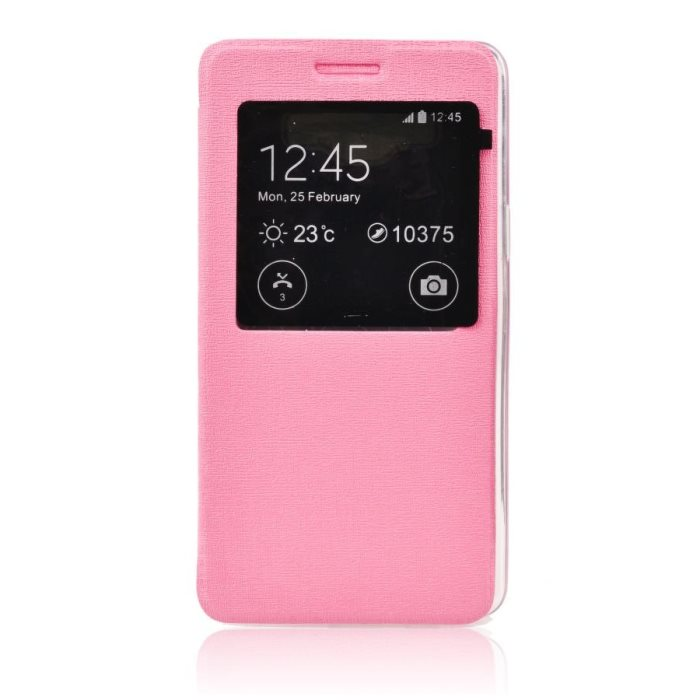 Puzdro S-VIEW pre LG G3 - D855, Soft Pink