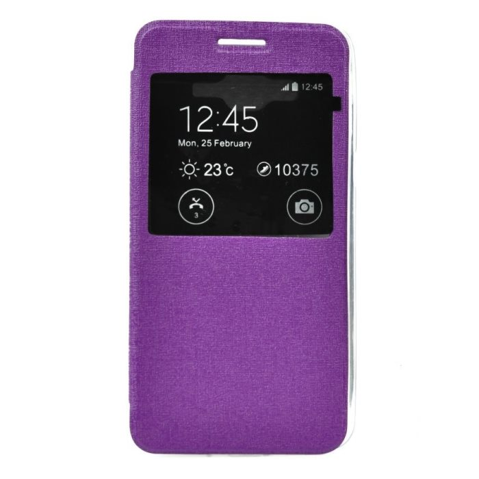 Puzdro S-View pre LG Magna - H502, Violet