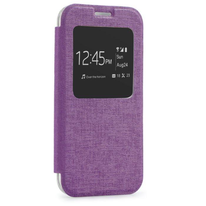Puzdro S-VIEW pre Microsoft Lumia 550, Violet