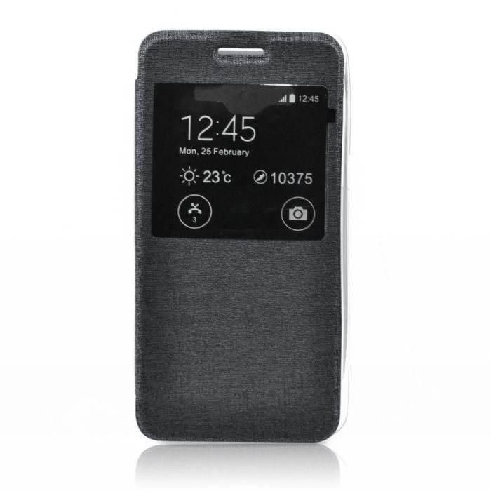 Puzdro S-VIEW pre Microsoft Lumia 640 a 640 LTE, Black