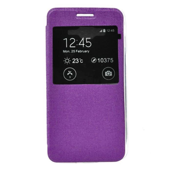 Puzdro S-View pre Samsung Galaxy J5 - J500 a J5 Dual, Violet