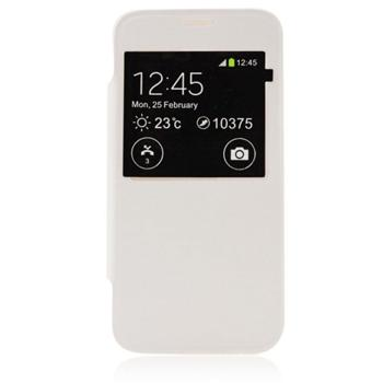 Puzdro S-View pre Samsung Galaxy J5 - J500 a J5 Dual, White