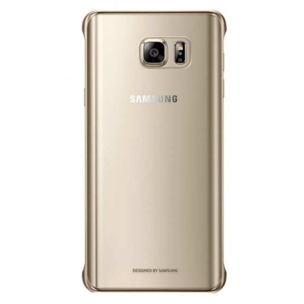 Puzdro Samsung Clear Cover EF-QN920C pre Samsung Galaxy Note 5 - N920, Gold