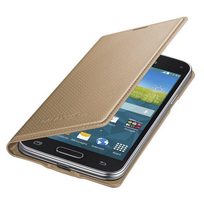 Puzdro Samsung EF-FG800 pre Samsung Galaxy S5 Mini - G800, Punching Gold