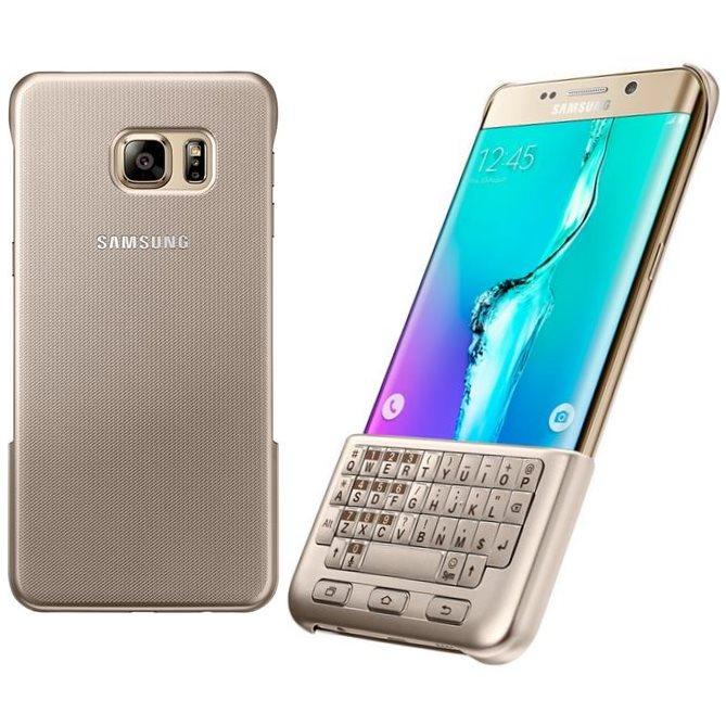 Puzdro Samsung Keyboard Cover QWERTZ EJ-CG928M pre Samsung Galaxy S6 Edge+ - G928F, Gold