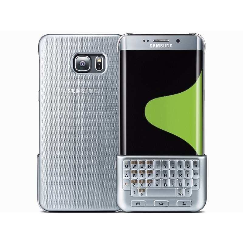 Puzdro Samsung Keyboard Cover QWERTZ EJ-CG928M pre Samsung Galaxy S6 Edge+ - G928F, Silver