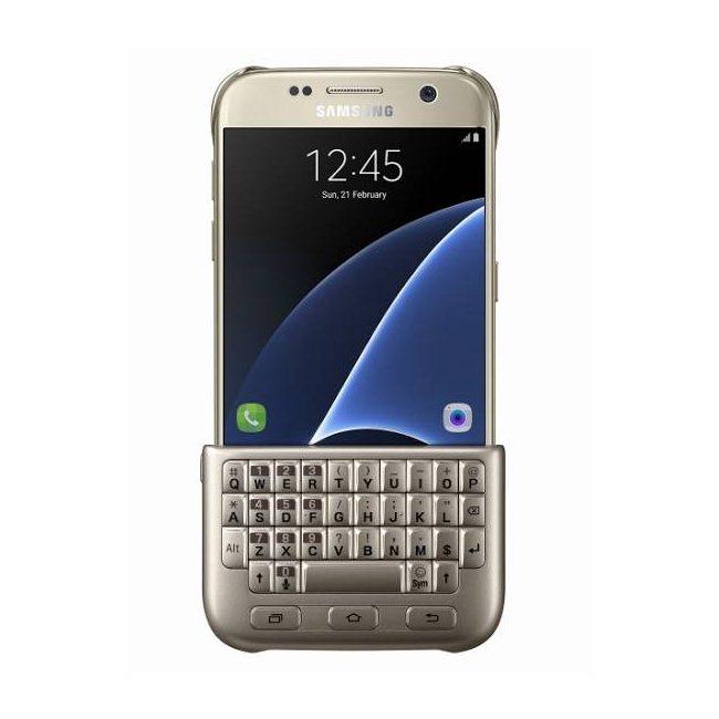Puzdro Samsung Keyboard Cover QWERTZ EJ-CG930U pre Samsung Galaxy S7 - G930F, Gold