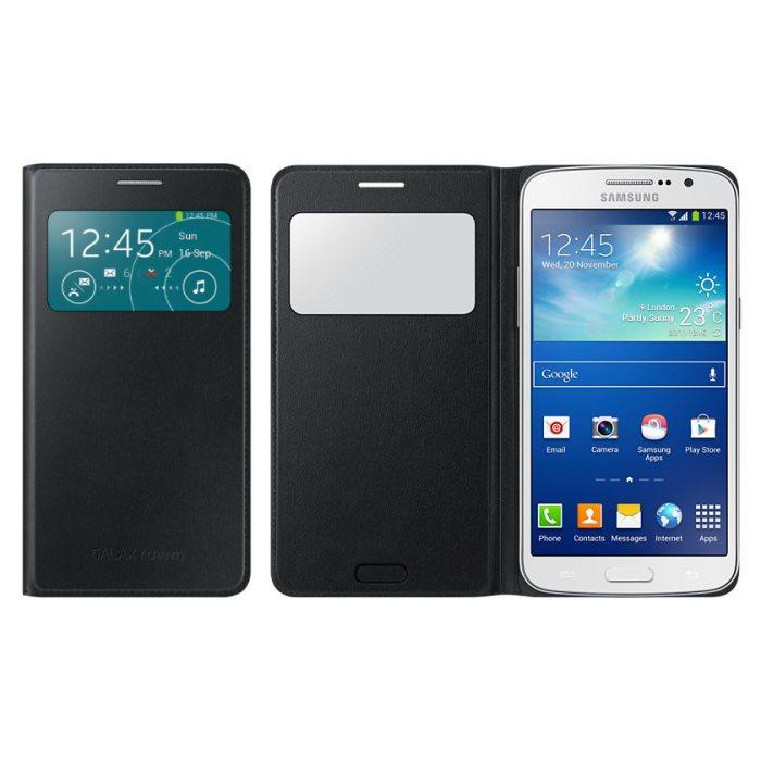 Puzdro Samsung S-View EF-CG710B pre Samsung Galaxy Grand 2 - G7102 a G7105, Black