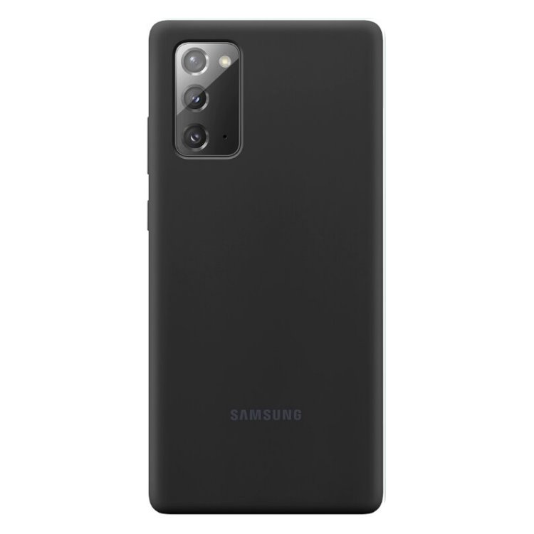 Puzdro Samsung Silicone Cover pre Galaxy Note 20 - N980F, black (EF-PN980TBE) EF-PN980TBEGEU