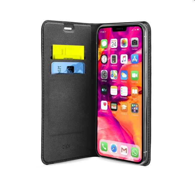 Puzdro SBS Book Wallet Lite pre iPhone 12/12 Pro, čierne