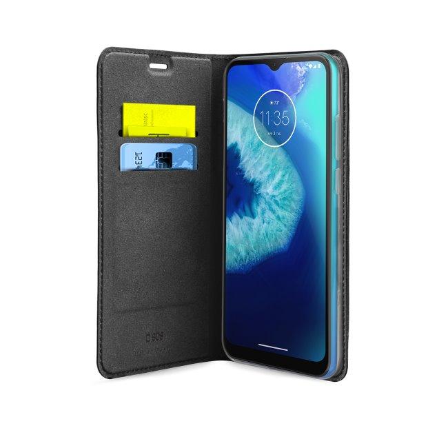 Puzdro SBS Book Wallet Lite pre Motorola Moto G8 Power Lite, čierne TEBKLITEMOG8LK