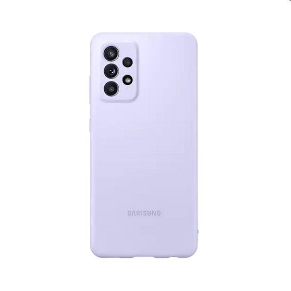 Puzdro Silicone Cover pre Samsung Galaxy A52/A52s, purple (EF-PA525TV)