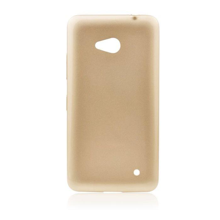 Puzdro silikonové Jelly Case pre Microsoft Lumia 640 a 640 LTE, Gold