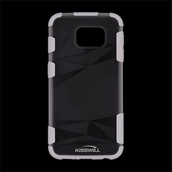 Puzdro silikonové Kisswill Fashion pre Samsung Galaxy S6 - G920F, White