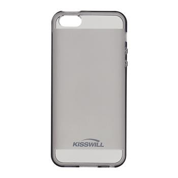 Puzdro silikonové Kisswill pre Apple iPhone 5, 5S a iPhone SE, Black
