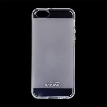 Puzdro silikonové Kisswill pre Apple iPhone 5, 5S a iPhone SE, Transparent
