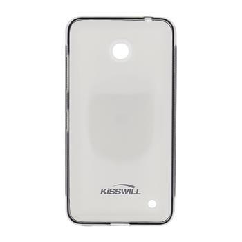 Puzdro silikonové Kisswill pre Nokia Lumia 640, Black