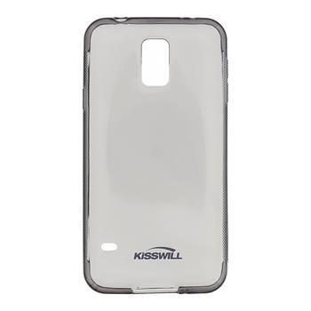 Puzdro silikonové Kisswill pre Samsung Galaxy S5 - G900 a S5 Neo - G903, Black