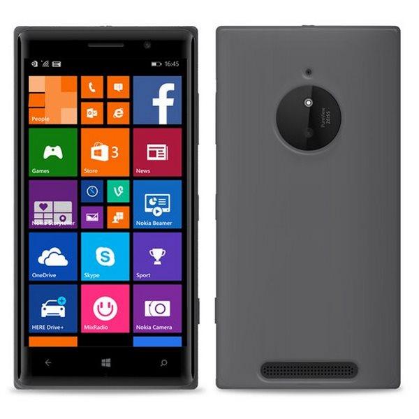 Puzdro silikonové PURO Clear pre Nokia Lumia 830, Black