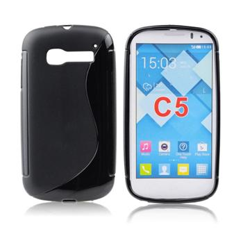 Puzdro silikonové S-TYPE pre Alcatel One Touch Pop C7 - 7041D, Black