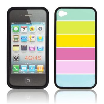 Puzdro silikonové S-TYPE pre Apple iPhone 4 a 4S, Black