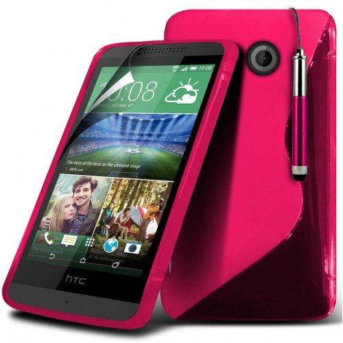 Puzdro silikonové S-TYPE pre HTC Desire 320, Red