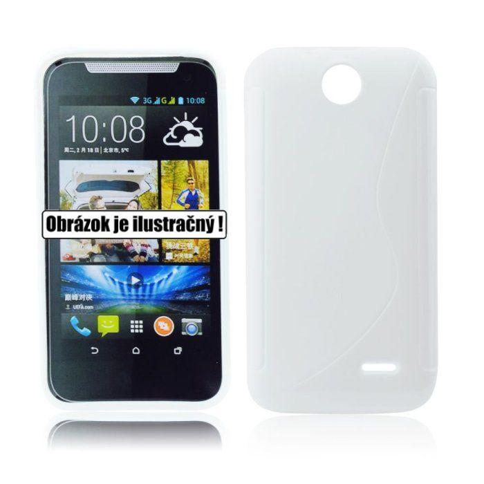 Puzdro silikonové S-TYPE pre HTC Desire 320, White