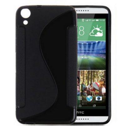 Puzdro silikonové S-TYPE pre HTC Desire 820, Black