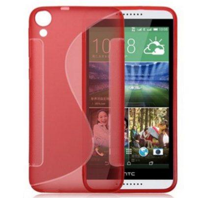 Puzdro silikonové S-TYPE pre HTC Desire 820, Red