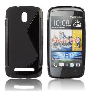 Puzdro silikonové S-TYPE pre HTC Desire SV, Transparent